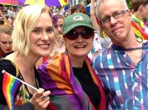 Kat, Ledell, and Don Mulvaney at the NYC Pride Parade, 2015