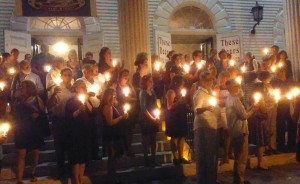 Prayer vigil for the Mulvaney family, 8/22/15, First Congregational Church of Norwalk, CT