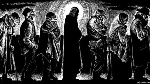 """Christ of the Bread Line"" woodcut by Fritz Eichenberg"