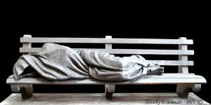 """Homeless Jesus"" by Timothy Schmalz"