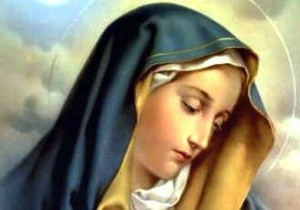The Virgin Mary appeared in a dream.