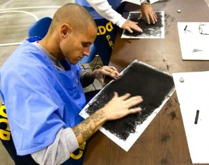 Art class in a California prison.