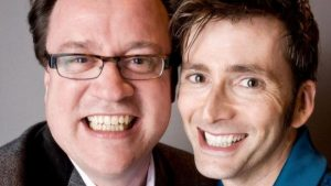 Screenwriter Russell T. Davies and actor David Tennant