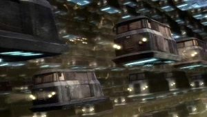 "Traffic jam on the Doctor Who episode ""Gridlock"""
