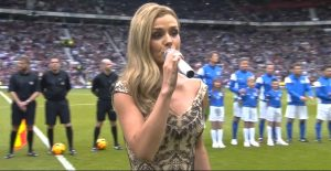 "Katherine Jenkins sang ""Abide with Me"" at Soccer Aid 2014"
