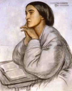 Portrait of Christina Rossetti by her brother, Dante Gabriel Rossetti