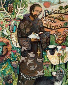 """""""Saint Francis"""" painting by Jen Norton"""