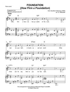 A page from Deanna's sheet music