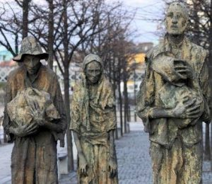 Dublin Famine Memorial, figures sculpted by Rowan Gillespie