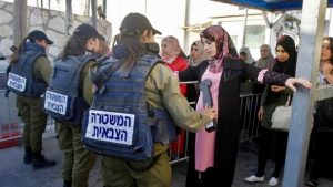 2018, Palestinian woman at Jerusalem-Bethlehem checkpoint