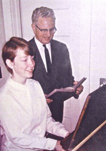 Pam McAllister, age 13, accompanying her uncle (Rev. Carl McAllister)