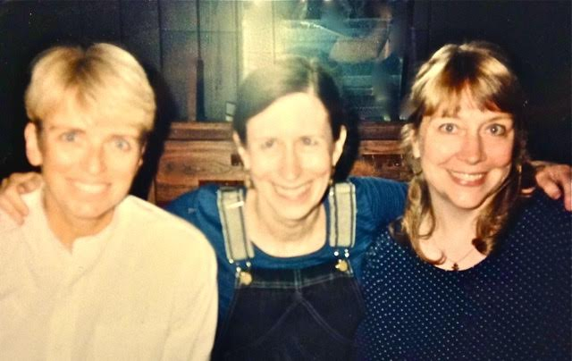 with Cynthia Powell (left) and Meredith Monk (middle), 1998