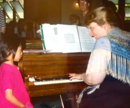 children are always fascinated by the piano ...