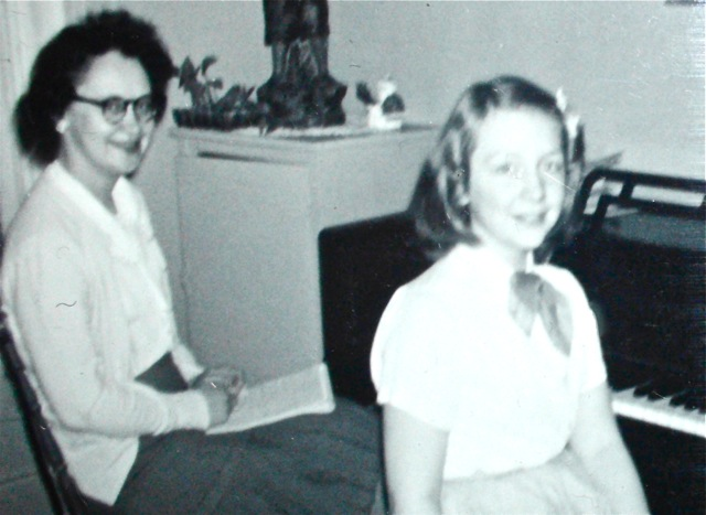 age 11, with piano teacher Margaret