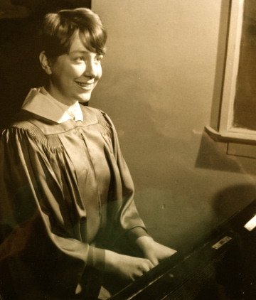 High School Yearbook photo, choir accompanist