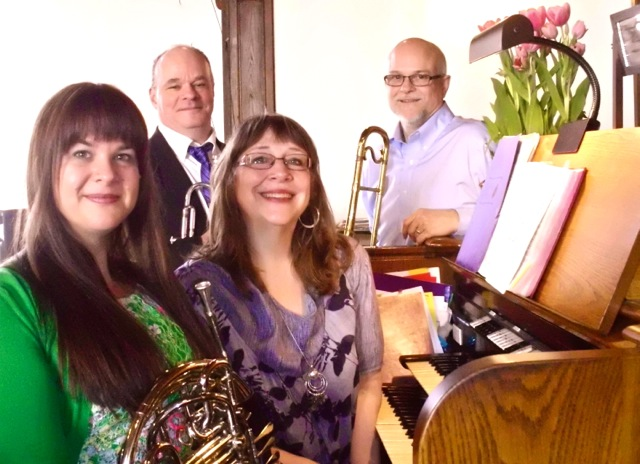 with brass players, Easter 2014
